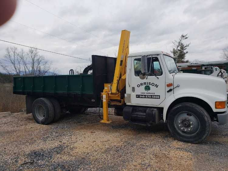 1991 International 4700 Grove N65 Knuckle Boom See Chart Photo And Boom Works Like It Should Truck 3a Dt466 With 6 Spd Manual 90k Trucks Dumped Air Brake