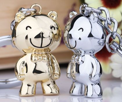 Cute Couples Keychains Matching Bear Key Chains Gift Set for Men and Women e7751b9f0