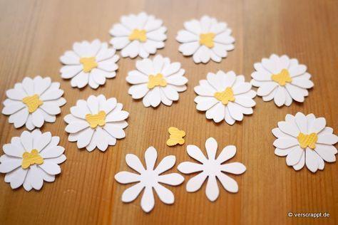 Frühling-Spring-Ostern-Fensterbild-Fensterdeko-Fenster-Dekoration-Pastell-Blumen-Stanzer-einfach-kleben-Cardstock-Papier-Gänseblümchen #frühlingblumen