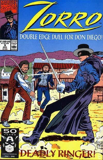 Zorro (1990 Marvel) 9 Marvel Comics Modern Age Comic book covers Super Heroes Villians