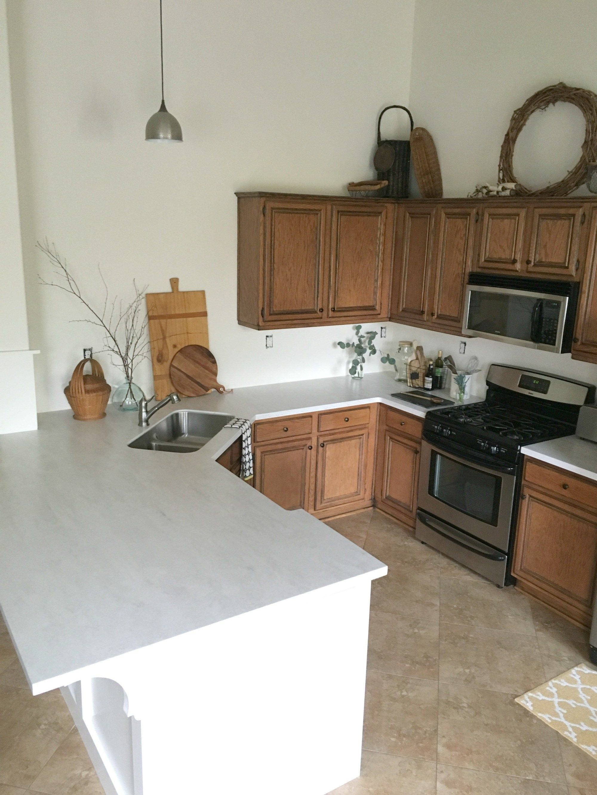 Allen Roth Solid Surface Countertop Review Honey N Hydrangea Kitchen Countertops Solid Surface Countertops Kitchen Corian Countertops