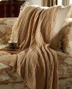 Ralph Lauren cable blanket