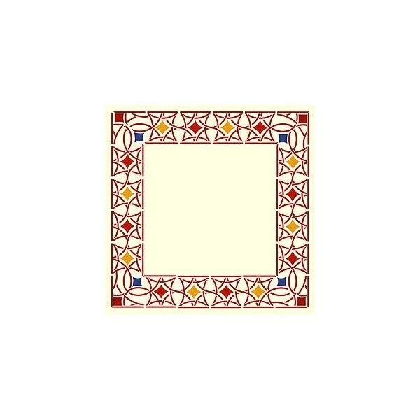 Moroccan Stencils Moroccan Filigree Border and Corner Stencil ($38) ❤ liked on Polyvore featuring backgrounds, frames and borders