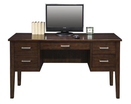Perception 54 Double Pedestal Desk With Legs By Winners Only At Rotmans Solid Wood Desk Darby Home Co Furniture