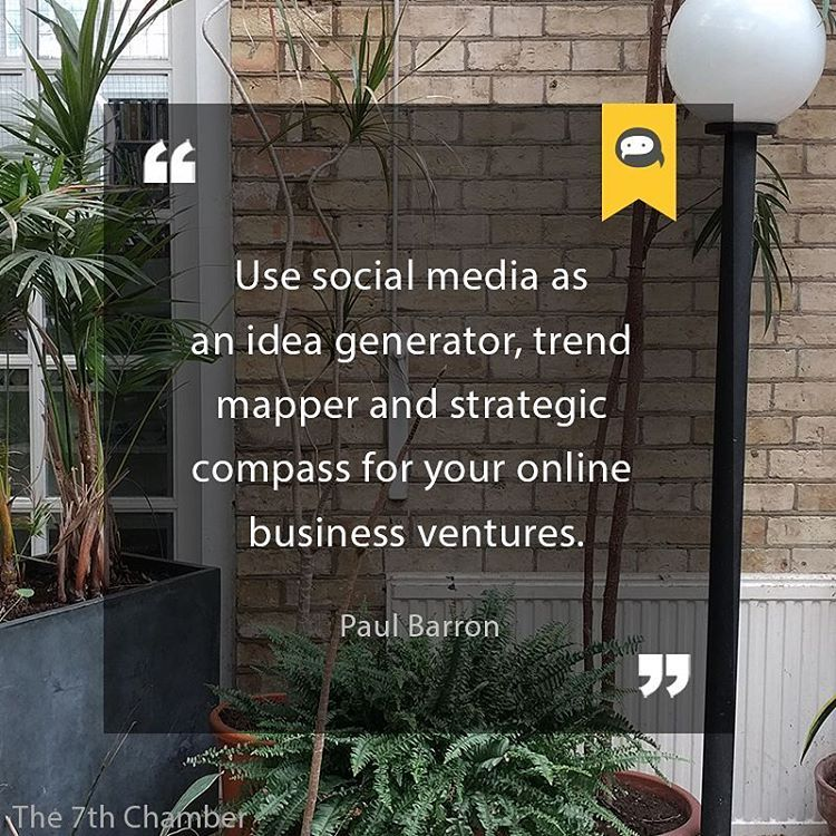 Use social media as an idea generator, trend mapper and strategic - business quote generator