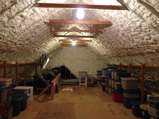 Sealed Attic With Open Cell Spray Foam Yelp Spray Foam Home Renovation Foam