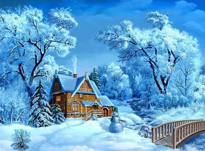Snow picture Full diamond embroidery   diy 5d diamond painting  Needlework cross stitch home decor diamond mosaic gift #Affiliate