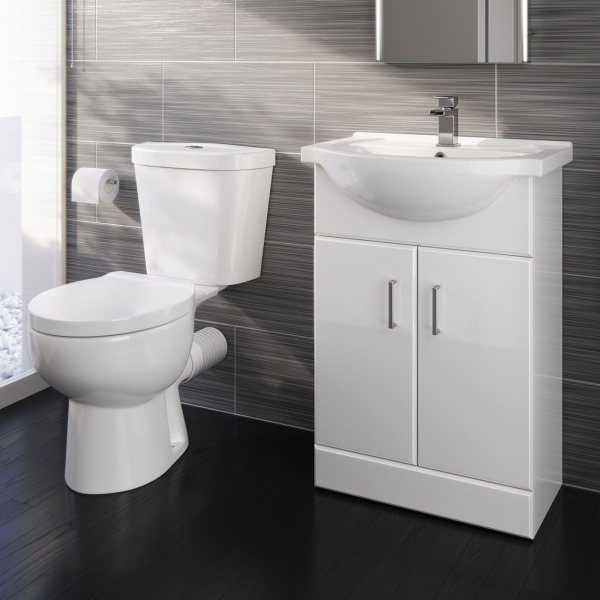Gloss White Bathroom Furniture Set In 2020 White Bathroom Furniture Bathroom Furniture Toilet Sink Unit