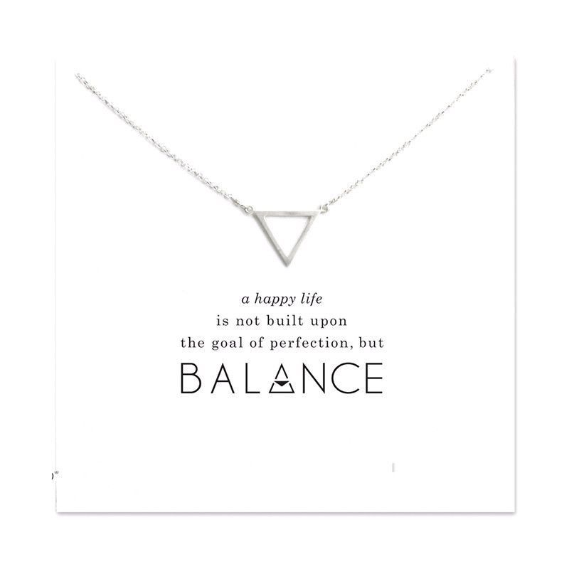 Sacred Balance Point Silver Pendant Necklace  Products