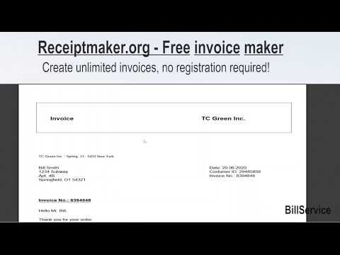 Free receipt maker and invoice maker ! free invoice software for