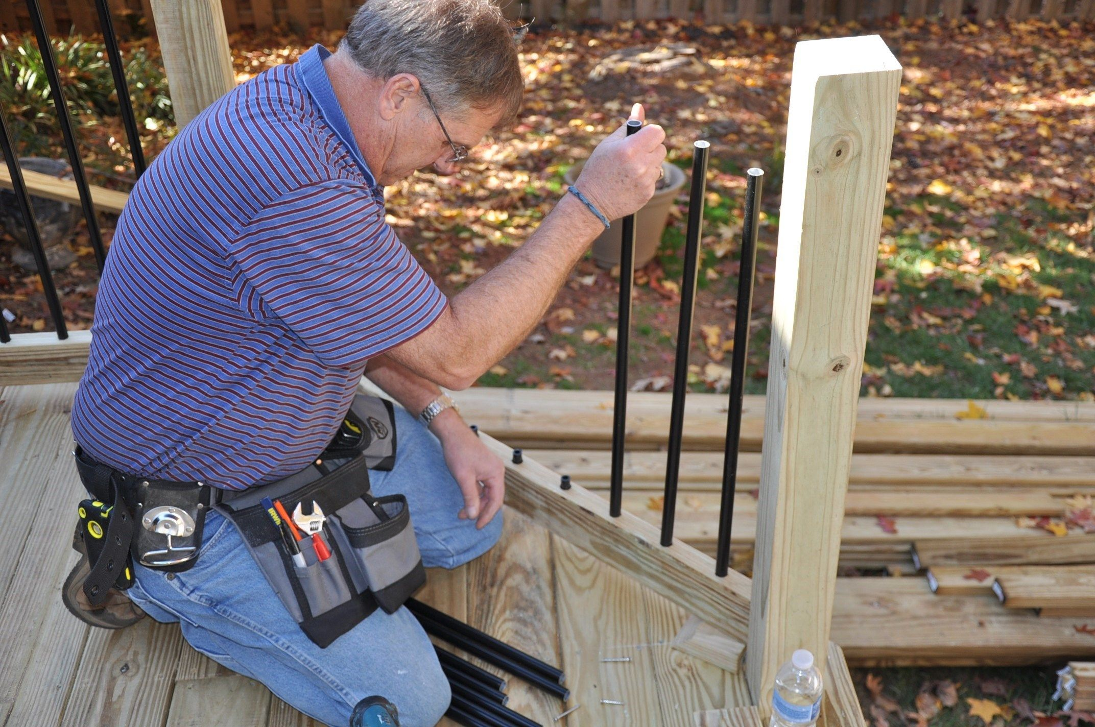 Deck Railing Balusters Deck Railings Deck Railing Systems | Installing Deck Stair Railing | Outdoor Stair | Baluster | Railing Ideas | Stair Treads | Stair Stringers