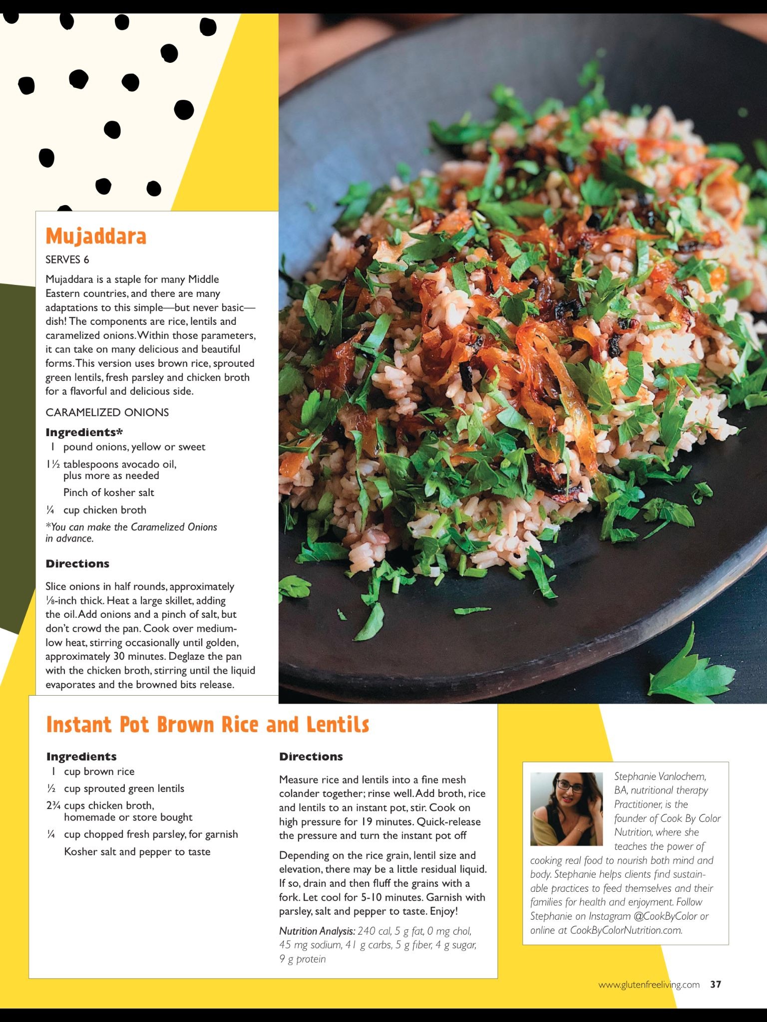 Cook By Color From Gluten Free Living Nov Dec 2018 Read It On The Texture App Unlimited Access To 200 To Gluten Free Living Gluten Free Caramelized Onions