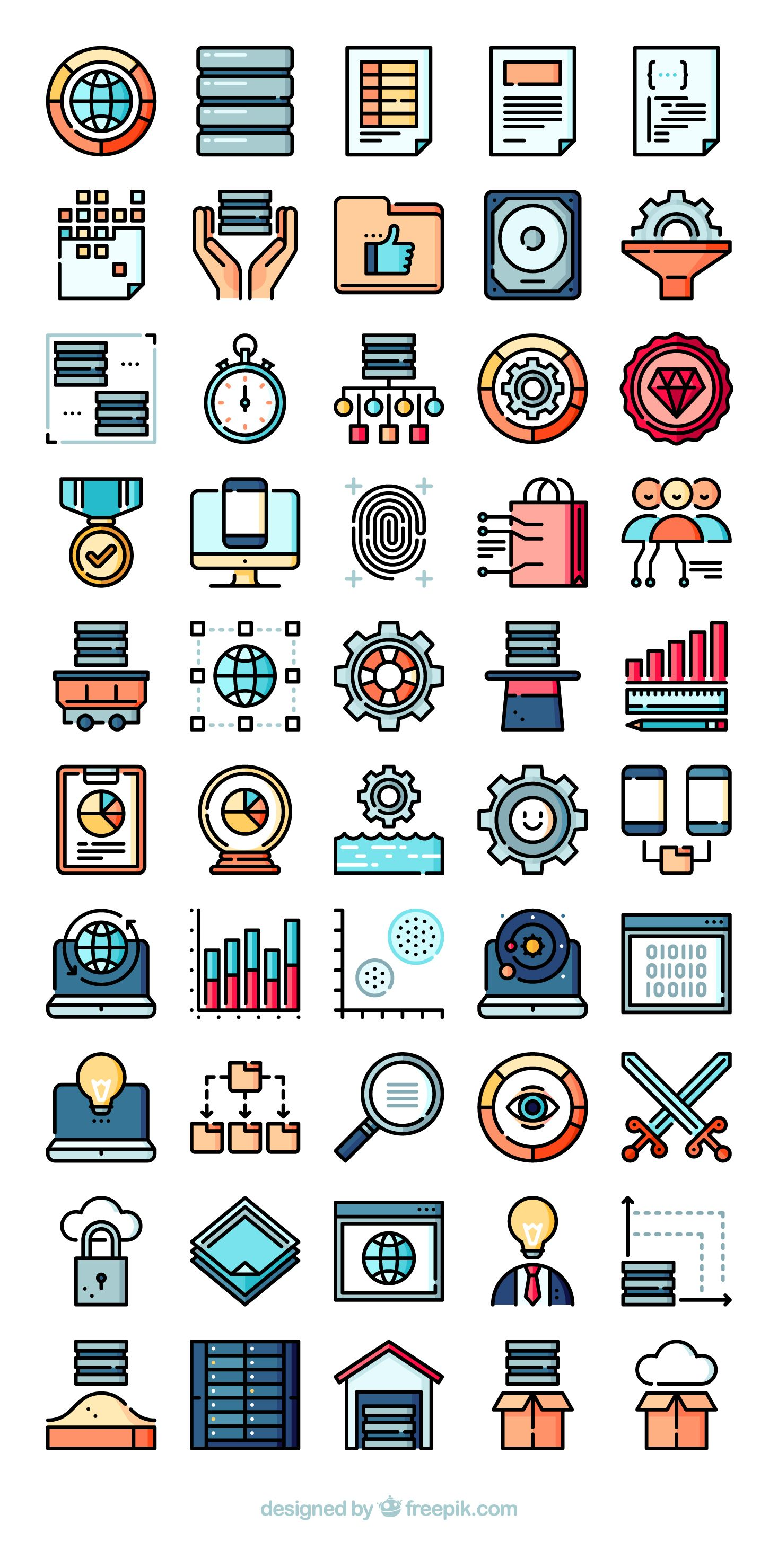 50 free vector icons of Big Data and Web Analytics