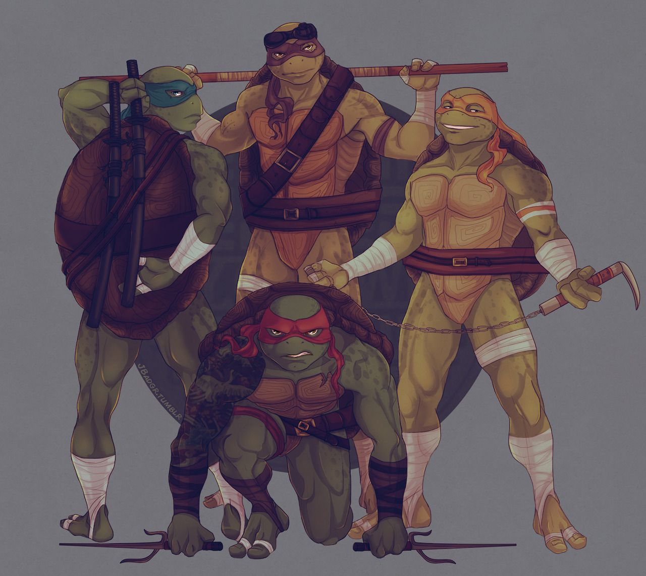 Artwork By Jess aka JBadgr — TMNT: Family Portrait | TMNT | Ninja