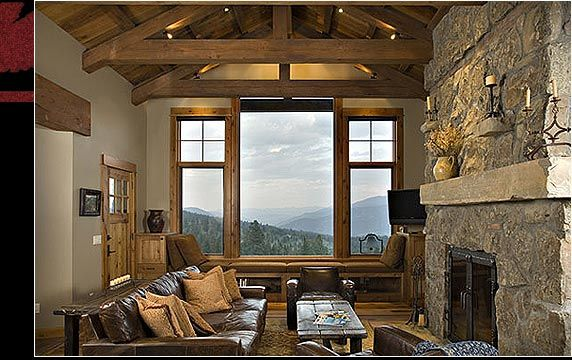 Interior stone and timber work