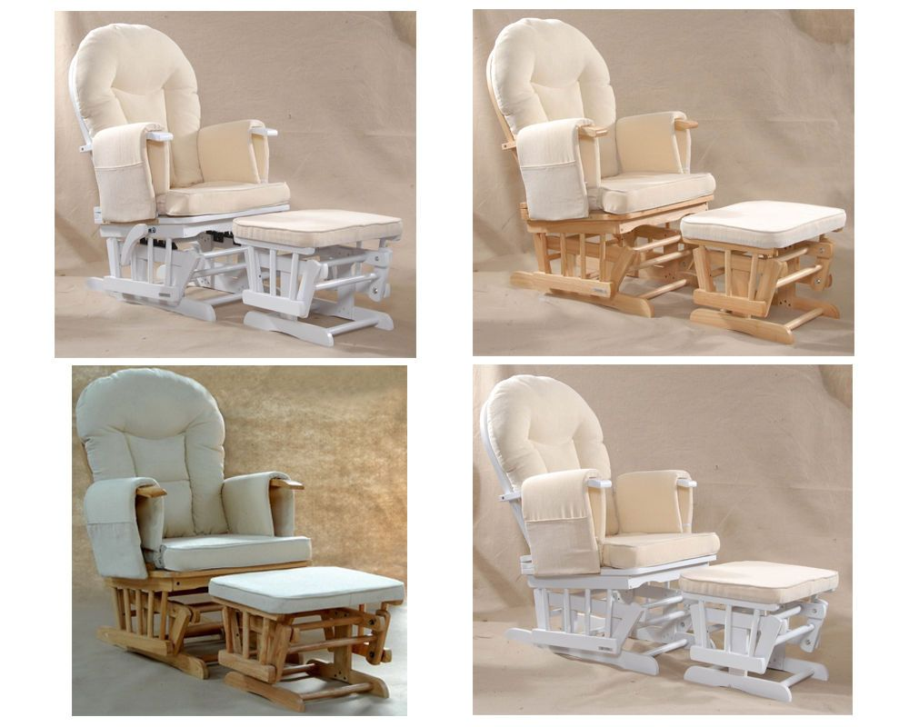 Phenomenal Details About Sereno Natural Wood Or White Nursing Glider Bralicious Painted Fabric Chair Ideas Braliciousco