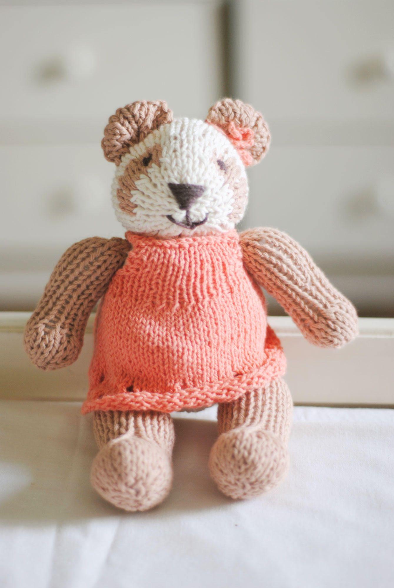 Knit teddy bear baby girl gift gift for her gift for baby