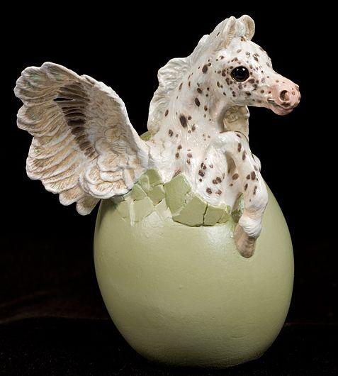 Hatching Pegasus - Leopard Appaloosa - Artist's Edition #1