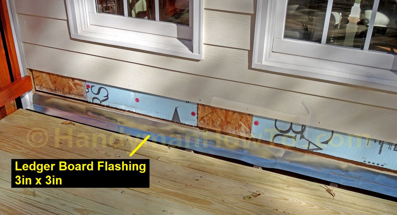 Attaching deck to house with siding - How To Replace Deck Ledger Flashing Tear Off The Hardiplank Lap Siding And Install New Flashing To Prevent Ledger Board Rot