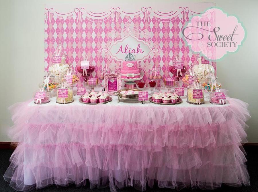 Princess Candy Table Princess Party Decorations Princess Theme Party 1st Birthday Princess
