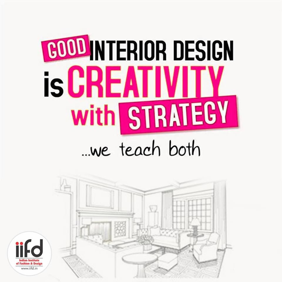 For admission process call or visit iifd best fashion designing institute chandigarh mohali punjab design also good interior is creativity with strategy we teach both rh za pinterest