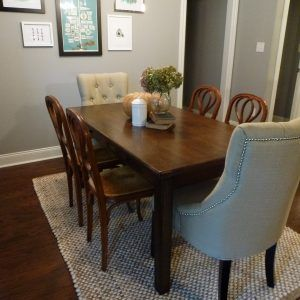 Seagrass Rug Under Dining Room Table  Httpecigcoach Gorgeous Rug Under Kitchen Table Design Ideas