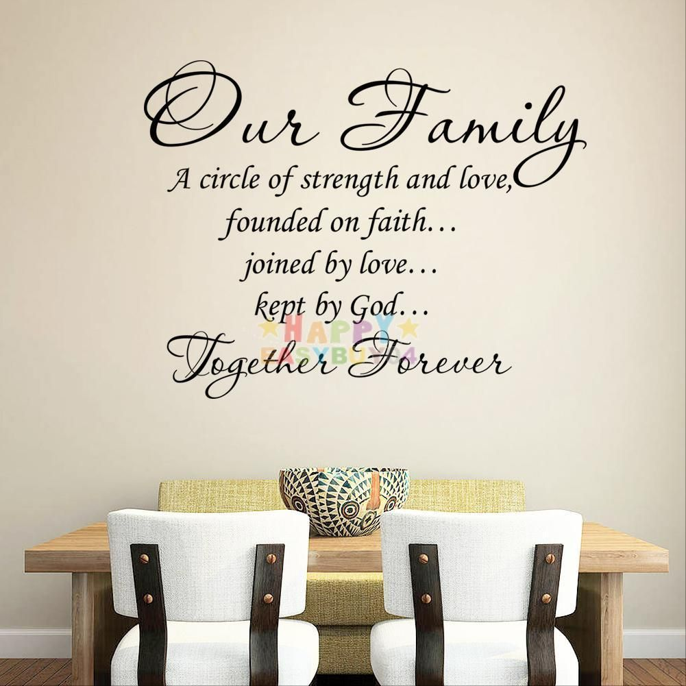 quote word decal vinyl diy home room decor art wall stickers