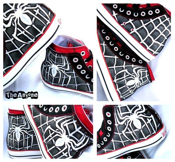 a8239916d833b4 Spiderman Venom Converse by ~TheAnyone on deviantART Love spidey and  converse...yet · Painted ConversePainted ShoesAvengers OutfitsConverse Style Custom ...