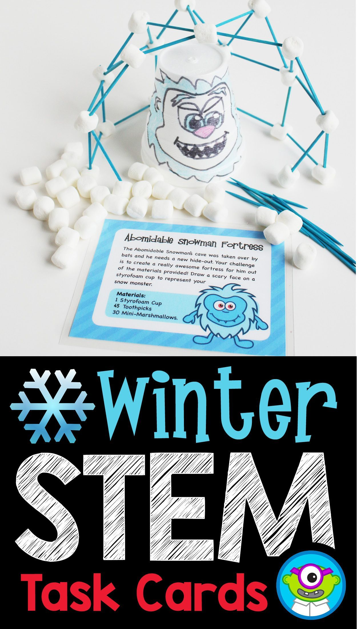 Winter Stem Task Cards January Stemactivitieselementary