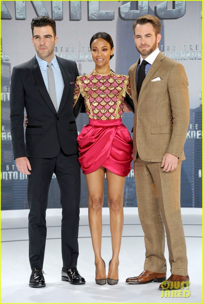 Zoe Saldana And Chris Pine Chris Pine Wife | Chri...