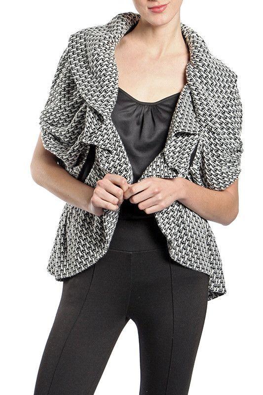 3/4 Sleeve Ruffle Jacket
