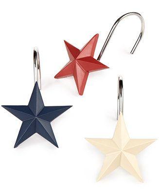 Avanti Bath Texas Star Shower Curtain Hooks