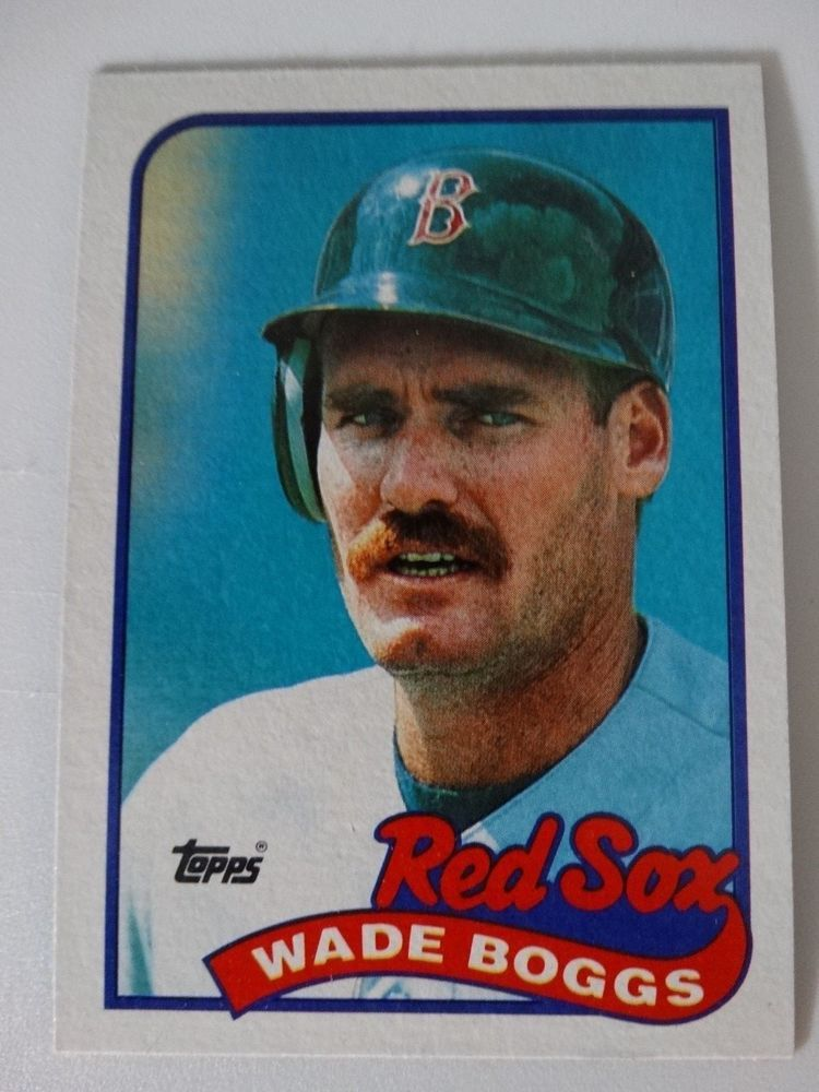 1989 Topps Wade Boggs Boston Red Sox Wrong Back Error