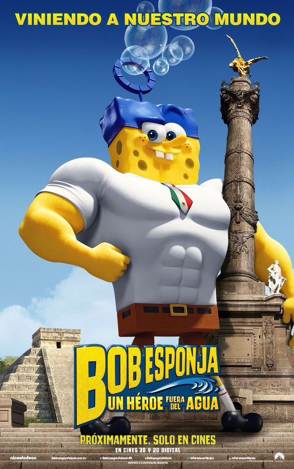 The SpongeBob movie Sponge out of water. Mexican Movie