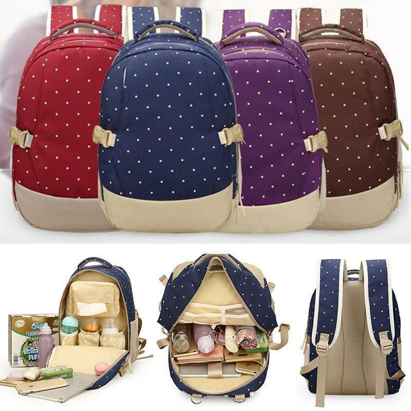 Mother Baby Pad Diaper  Nappy Changing Mummy Backpack Shoulder Bag HOT