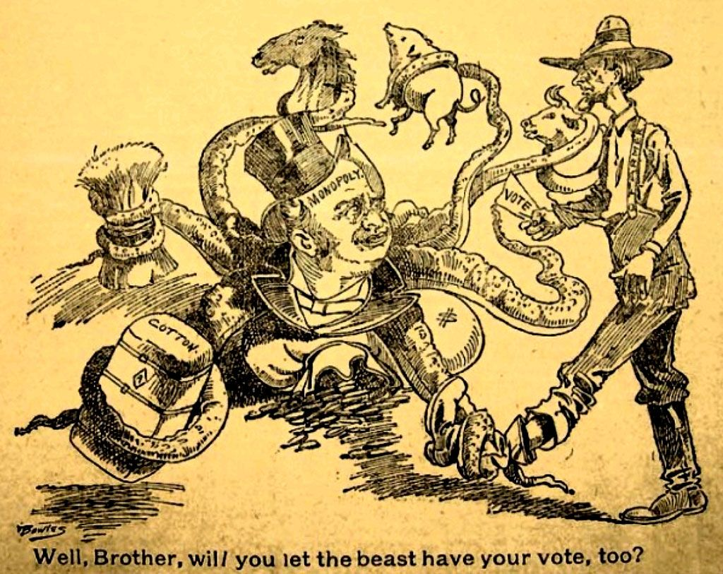 Free Materials -- Populist Anti-Monopoly, 1890s, Political