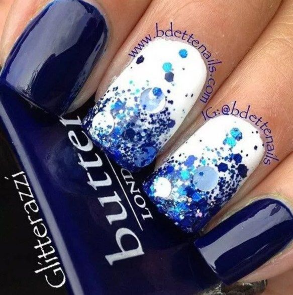 100 Beautiful blue Nail Art Designs 2018 - Reny styles   Expensive ...