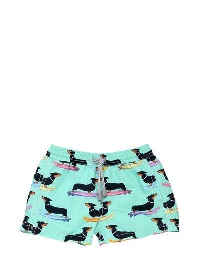 cfd68ef9b8 Dachshund Printed Nylon Swim Shorts | Kids Swimwear | Swim shorts ...