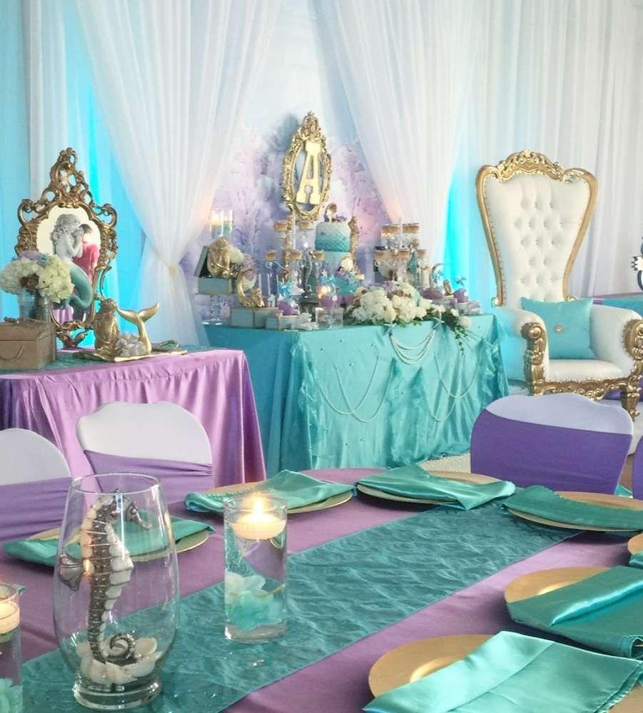 Mermaids Baby Shower Party Ideas   Mermaid, Mermaid baby showers and ...
