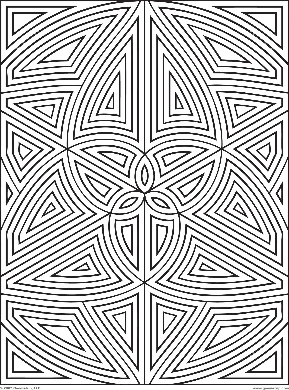 Geometrip Com Free Geometric Coloring Designs Rectangles Geometric Coloring Pages Geometric Patterns Coloring Abstract Coloring Pages