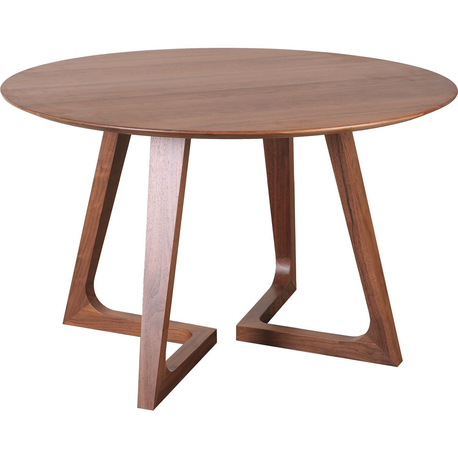 Aurelle Home Gideon Solid Walnut Modern Round Kitchen Table