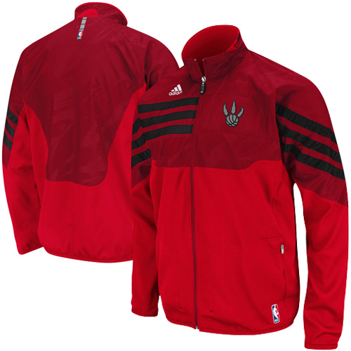 adidas Toronto Raptors Red On-Court East Full Zip Jacket
