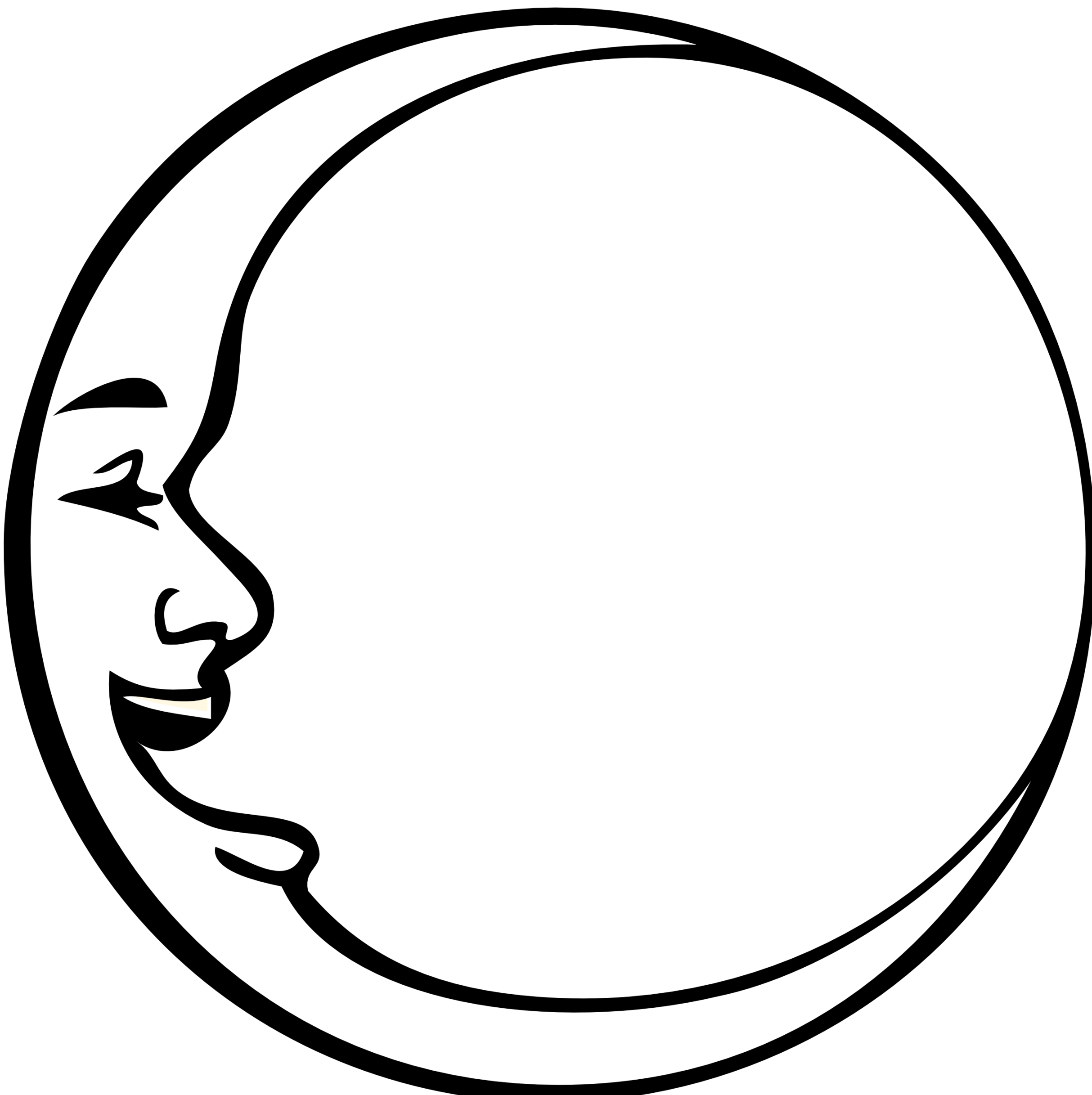 Images For Gt Triple Moon Symbol Outline Clipart