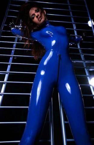 latex suit Blue