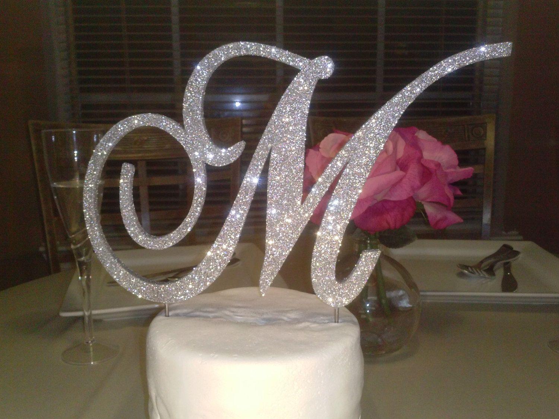 Monogram Letter Cake Toppers