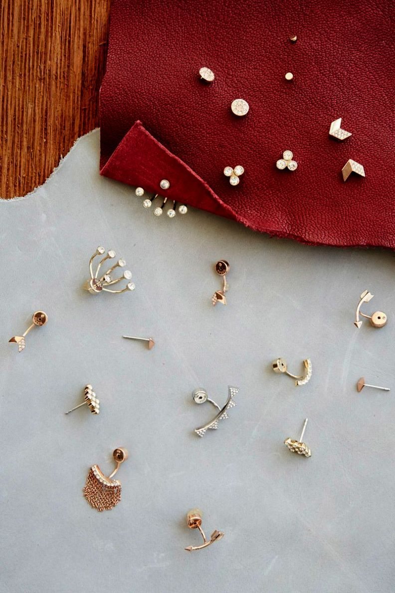 Earring set for holes diamond pendant earring set tanishq