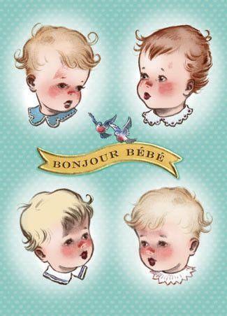 Cartolina card - Bonjour Bébé CC208