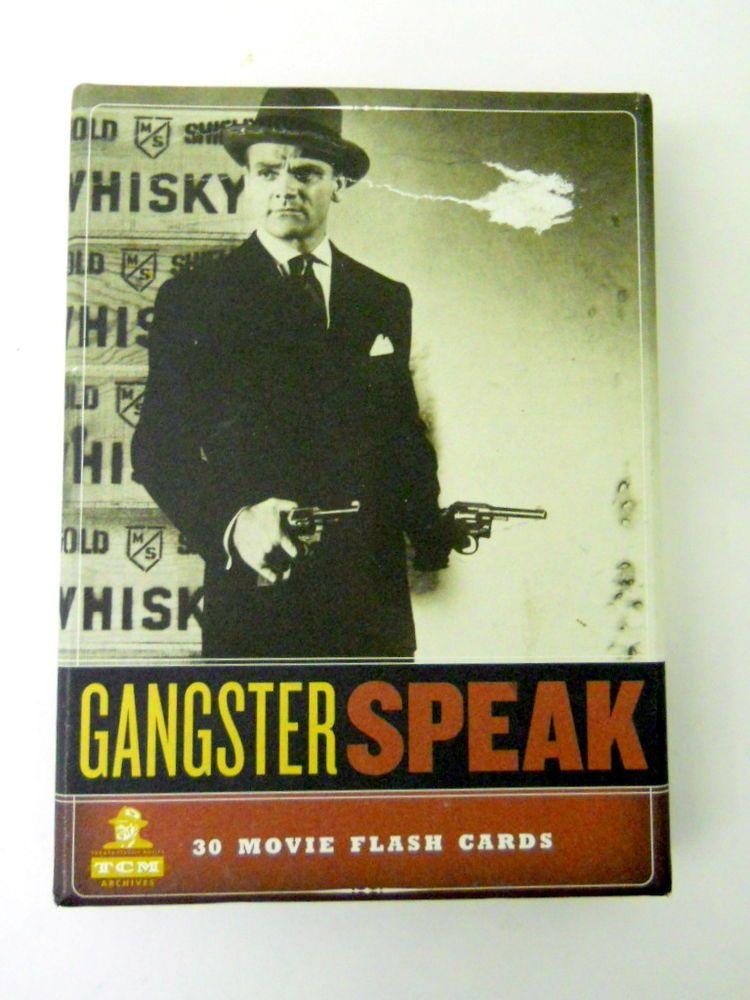 Gangster Speak Movie Flash Cards Turner Classic Movies Scenes Bad Guys Mobsters