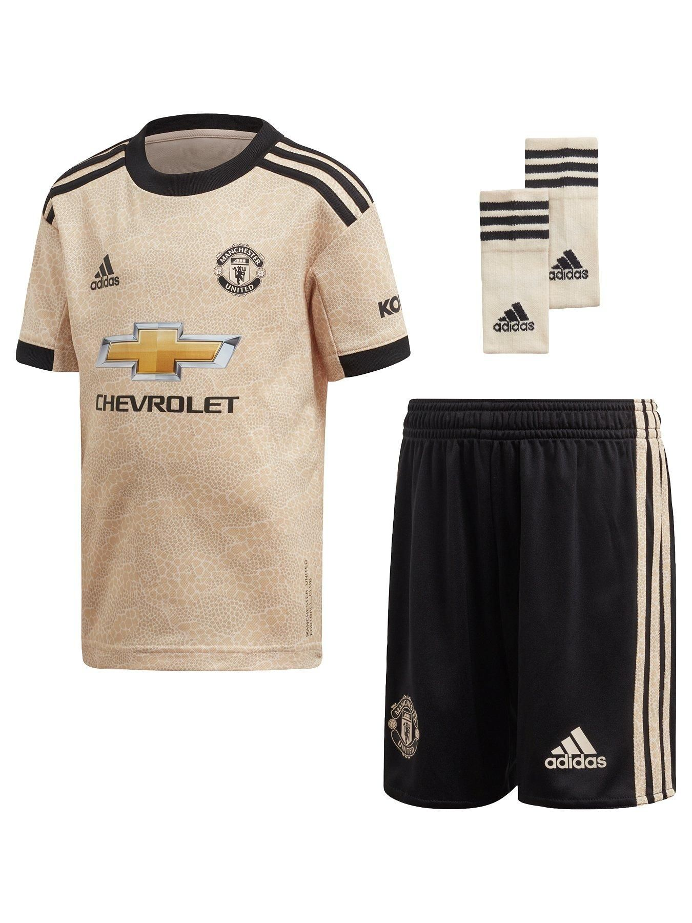 Manchester United Infant 2019 20 Away Mini Kit Cream In 2020 Football Outfits Manchester United Outfit Sets