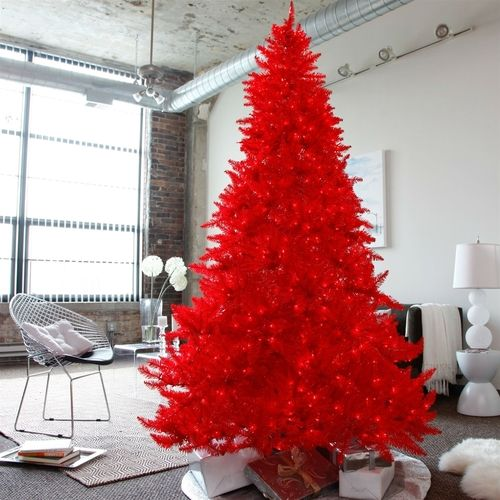 75 Ft Red Pre-Lit Faux Christmas Tree Christmas Pinterest